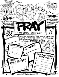 missionary prayer kids missionaryprayerkids kidscoloringpages