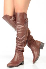 s boots knee high brown brown faux leather knee high boots cicihot boots catalog