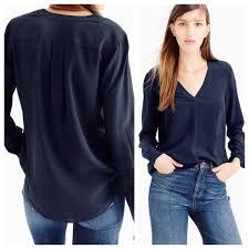 j crew blouses j crew silk blouse blouse with