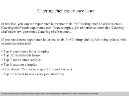 Commi Chef Resume Sample by Cateringchefexperienceletter 140904045751 Phpapp02 Thumbnail 4 Jpg Cb U003d1409806724