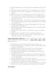 Sample Resume Maintenance Technician by The Page 2 Of General Maintenance Technician Resume Sample