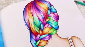 rainbow braid coloring book u0027color me inspired u0027 youtube