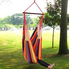 songmics extra large hanging hammock chair porch swing seat