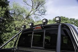toyota tacoma light bar roof mount t054br n fab l m s bed mounted light bar textured black toyota