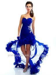 aliexpress com buy 2013 high low hem red royal blue sweetheart