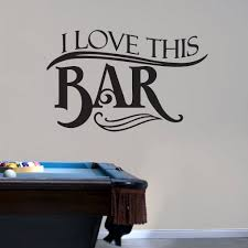 wall decals stickers home decor home furniture diy i love this bar wall decals wall stickers