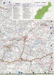 Pennsylvania Toll Road Map by Southwest Pennsylvania Map