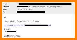 Subject For Sending Resume On Email 8 Sending Resume Email Simple Cv Formate