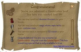 Crude Wooden Chair 2007 Runescape 99 Construction Guide Levelskip