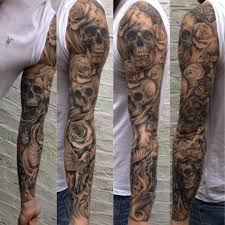 skull arm sleeve sick sleeve tattoo ideas google søk hand tattoo pinterest