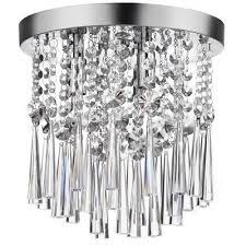 chrome flush mount light dainolite josephine 10 in w polished chrome crystal semi flush mount