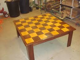hand made chess board table by cedar furniture craftsman made in