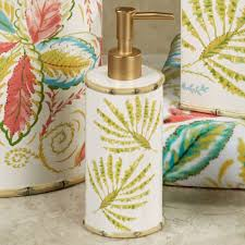tropical palm ceramic bath accessories by dena home tropical