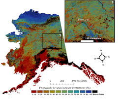 Alaska On Us Map by Usgs Projects Large Loss Of Alaska Permafrost By 2100