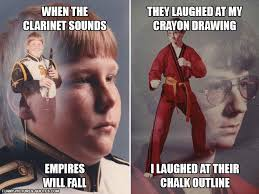 Karate Kyle Meme Generator - clarinet boy vs karate kyle who s tougher funny pictures and