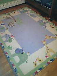 Pottery Barn Rug Pads Pottery Barn Children S Bedroom Jungle Friends Rug And Rug Pad Ebay