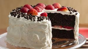 chocolate strawberry cake with fluffy frosting recipe