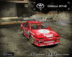 wanted toyota corolla need for speed most wanted toyota corolla gt s d1 nfscars