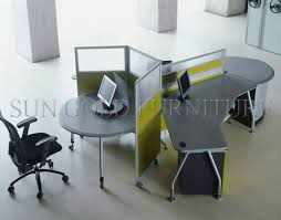 desk for 3 people china glass partition round workstation new design 3 people office