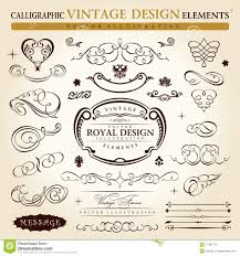 calligraphic vintage ornament vector frame stock vector