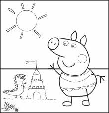 coloring book peppa pig peppa pig colouring sticker book