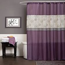 Orchid Shower Curtain Amazon Com Interdesign Leaves Shower Curtain Purple 72 Inch By