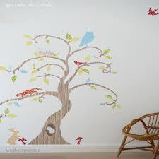chambre bébé arbre stickers muraux repositionnables bébé occupé à stunning stickers