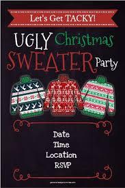 sweater invitation chalkboard style