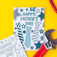 free father u0027s day card printable template sarah renae clark