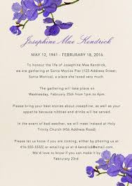 memorial announcement wording burial announcement sle 39 best funeral reception invitations