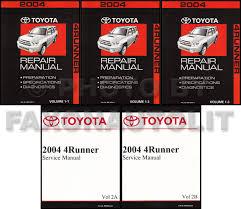 toyota 4runner repair 2004 toyota 4runner repair manual set