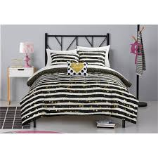 White And Gold Bedding Sets Latitude Gold Glitter Stripe And Polka Dot Bed In A Bag Bedding