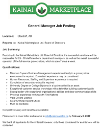 Grocery Store Owner Job Description January 2017