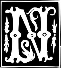 ornamental letter clipart 26