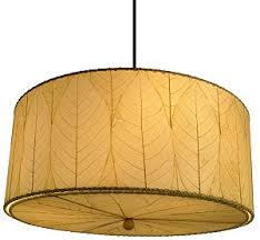 Drum Pendant Lights Cocoa Leaf Hanging Drum Pendant L