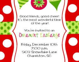 printable pink ornament exchange invitation diy