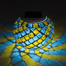 Outdoor Solar Table L Solar Mosaic Table Light Colour Changing Best Solar Garden
