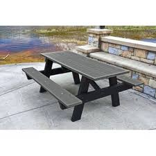 plastic convertible bench picnic table picnic tables you ll love wayfair