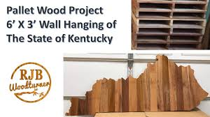 pallet wood wall hanging of the state of kentucky