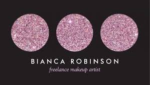 freelance makeup artist business card glamourous glitz and glitter business cards page 2 girly