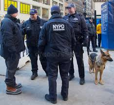 nypd counter terrorism officers and nypd transit bureau k 9