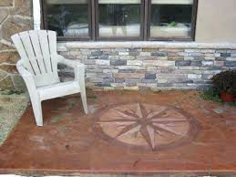 Cost Of Concrete Patio by Acid Stained Patio U2013 Smashingplates Us