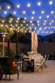 how to hang outdoor string lights on patio outside lights for patio