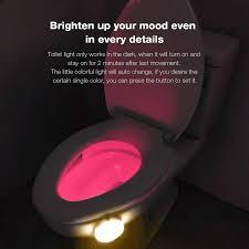 toilet light dg tl280 8 colors motion activated sensor led toilet night light