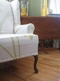 Wing Chair Cover Queen Anne Chair Covers Foter