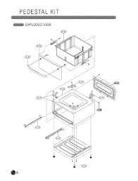 Lg Washer Pedestal White Parts For Lg Wdp1w Abweeus Pedestal Appliancepartspros Com