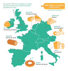 Christmas Map 21 Food Bloggers Share Best European Christmas Sweets The