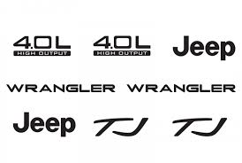 jeep wrangler l jeep wrangler tj 4 0l 4 0 l refresh vinyl decal set