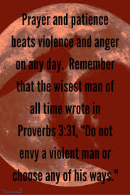what does the bible say about violence