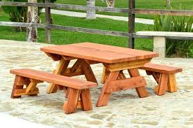 picnic table plans detached benches redwood picnic table plans picnic table plans detached benches kids